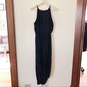 Halter Neck Cinched Waist Maxi Dress